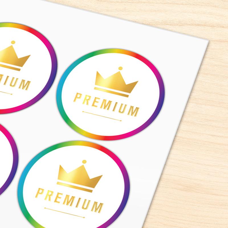 Chrome Label Sticker