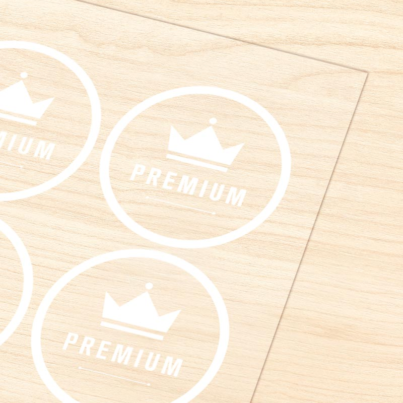 Ultra Clear Label Sticker with White Ink