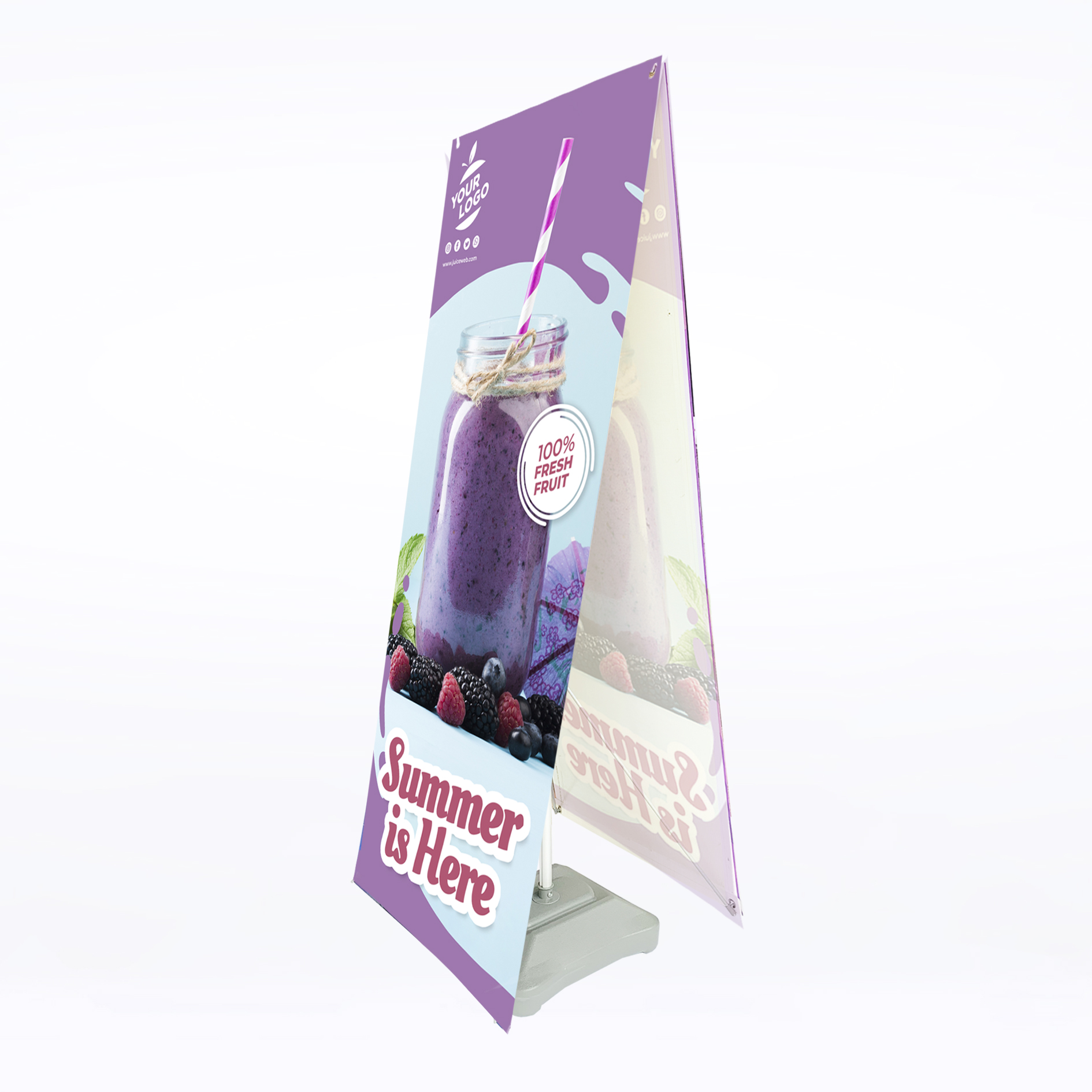 Esty Outdoor Banner Stand (Double Sided)