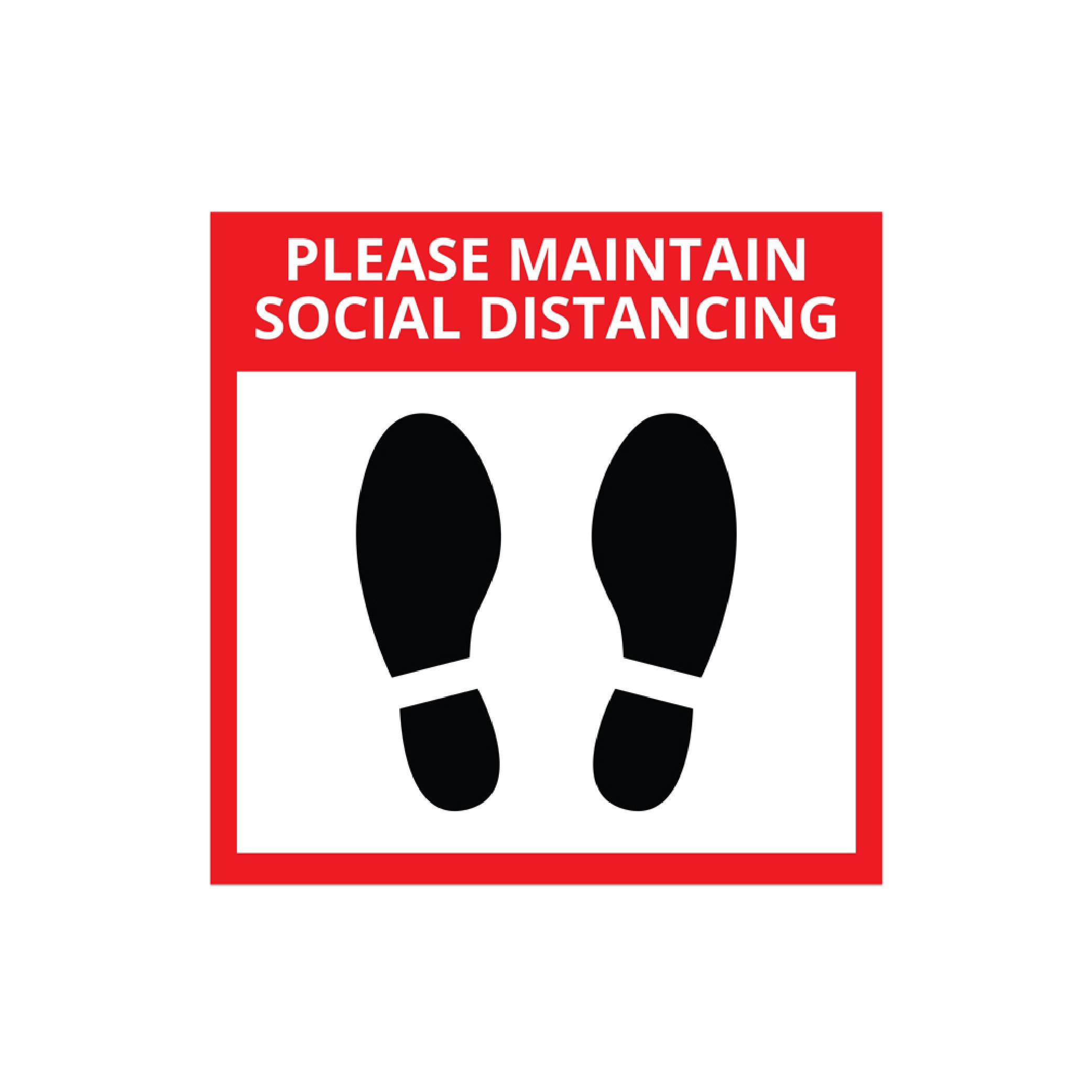Elevator Social Distancing Sticker - 300mm x 300mm