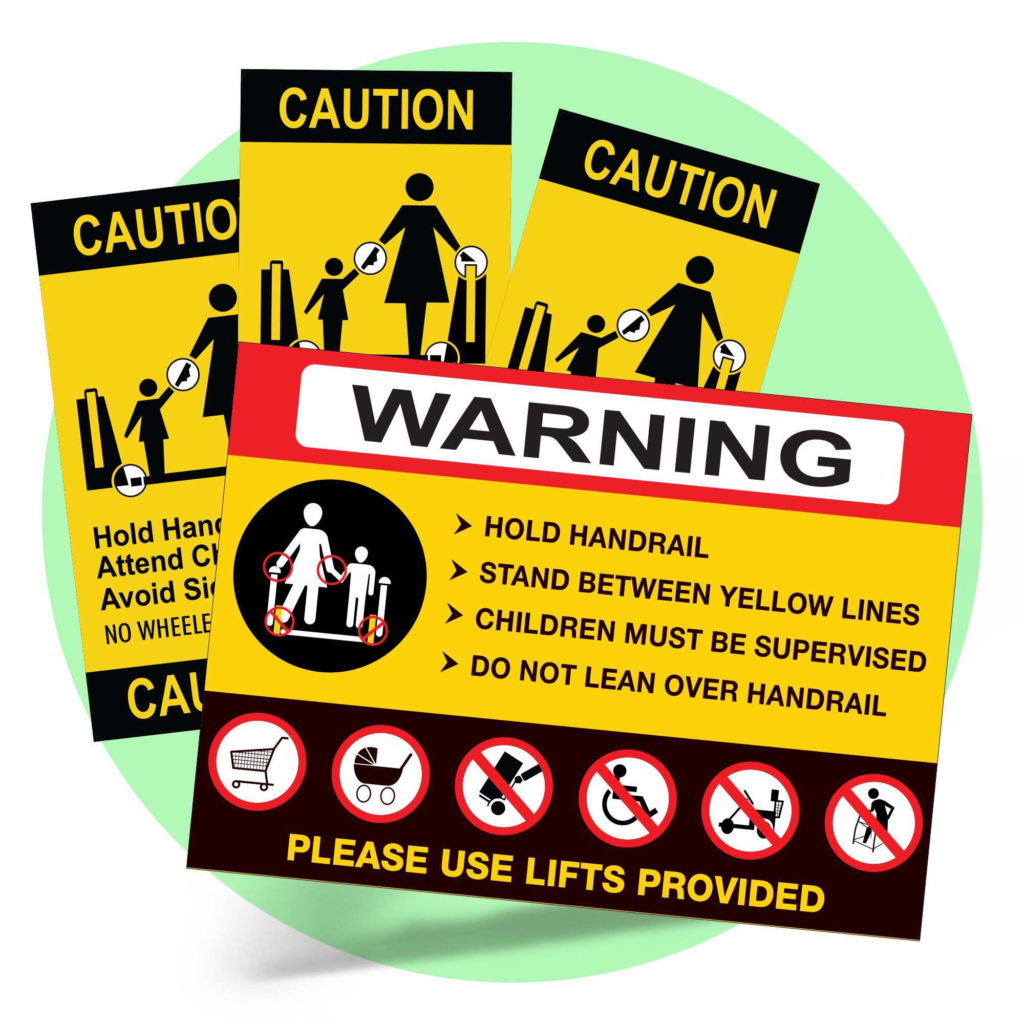 Escalator Safety Sticker