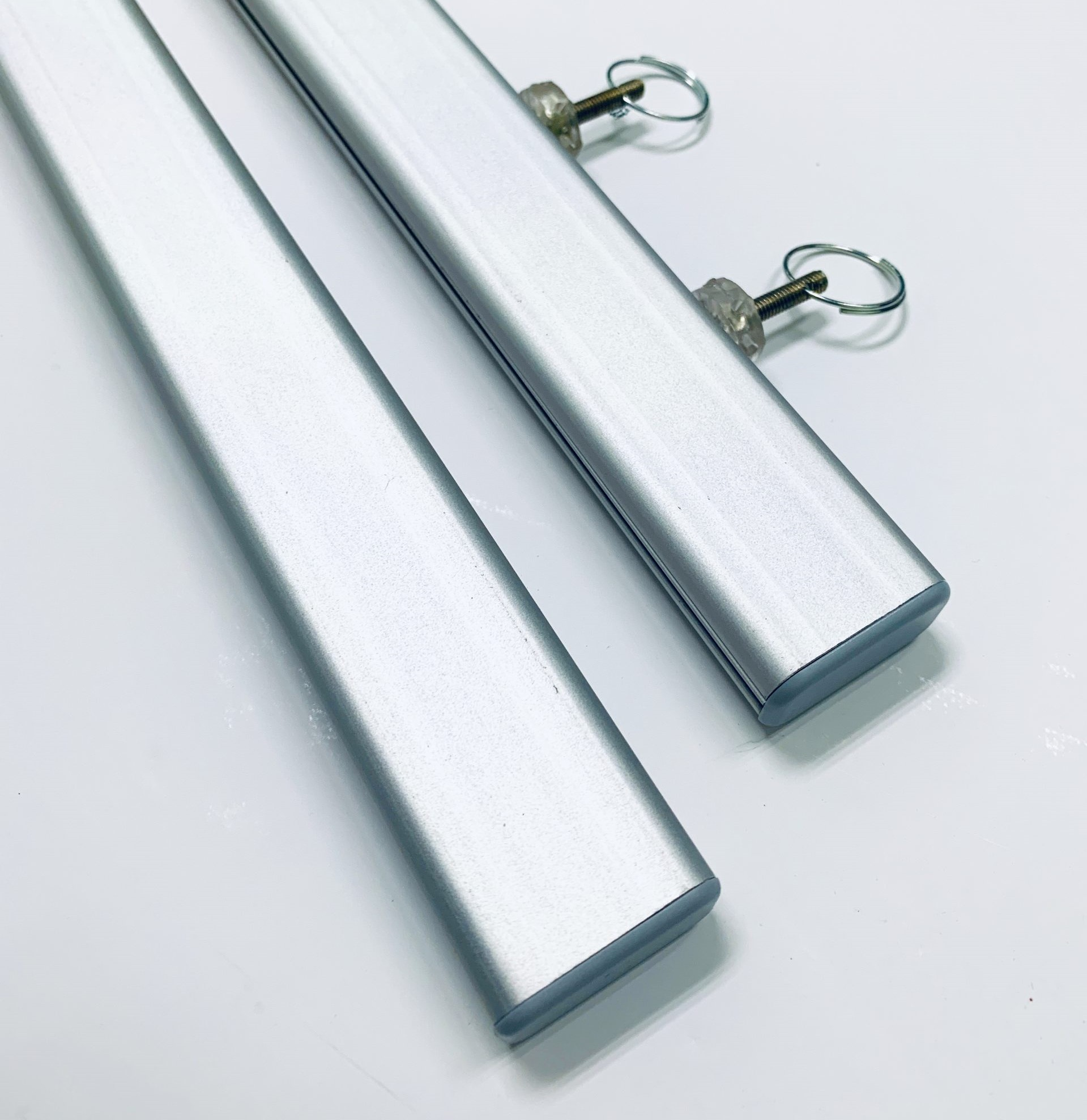 2pcs of Boni Profile with Two Ring Hooks (Silver) - 850mm