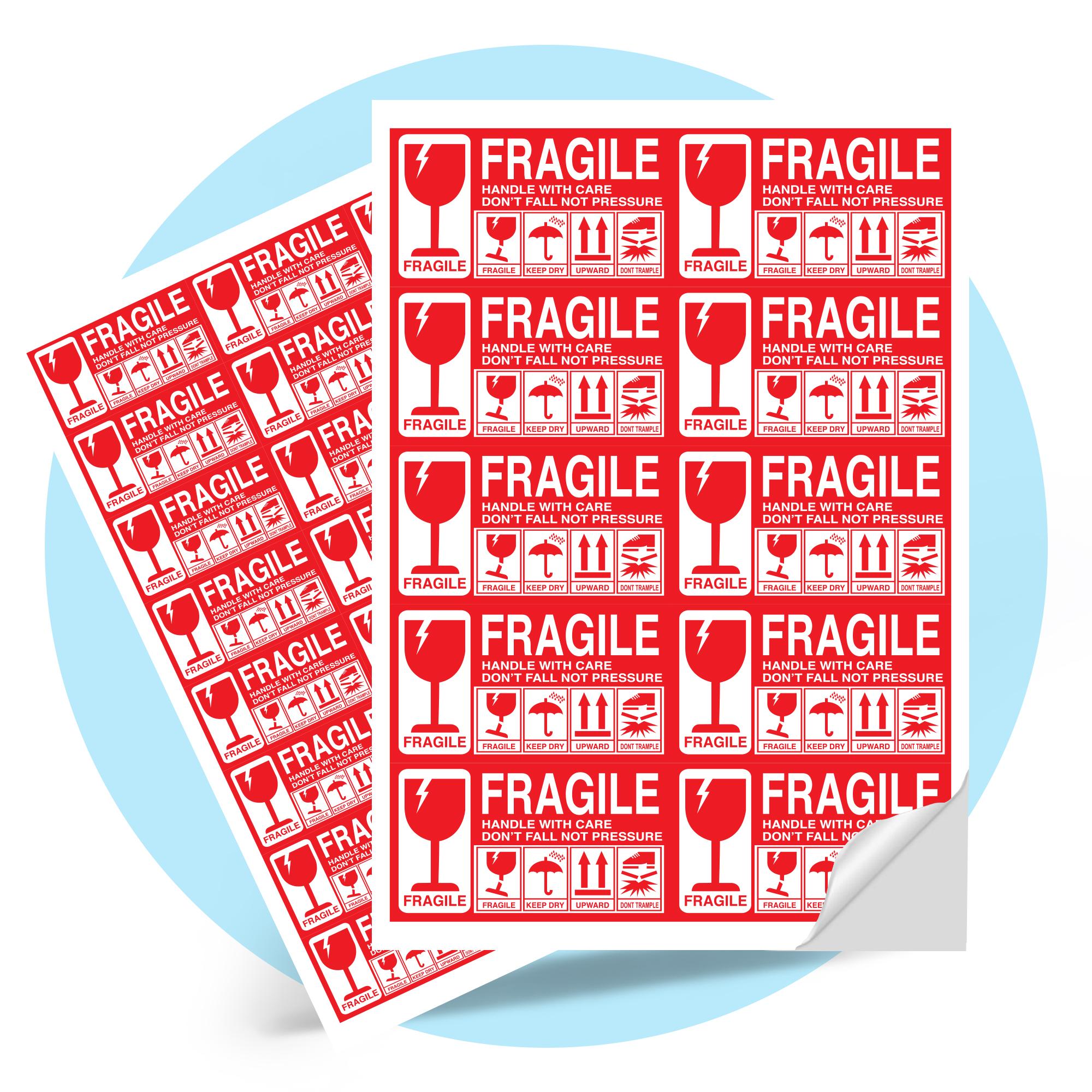 Fragile Parcel Label Sticker