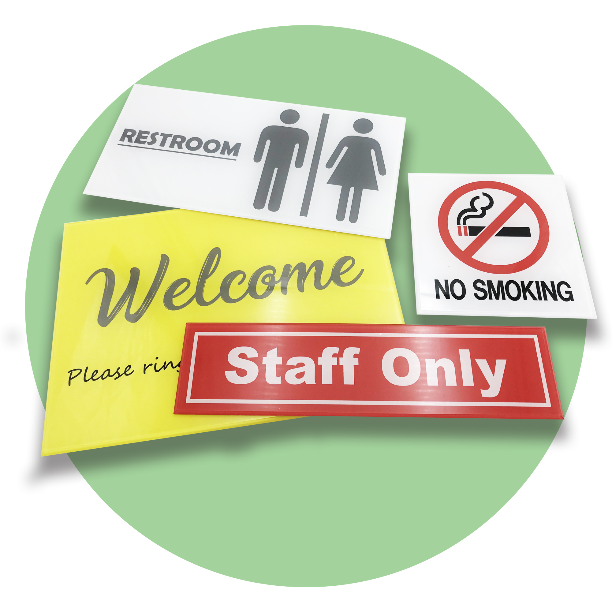 Acrylic Sign- 4mm thick x 300mm x 300mm
