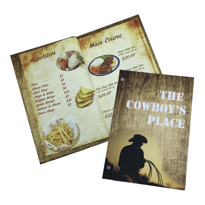 Budget menu book product