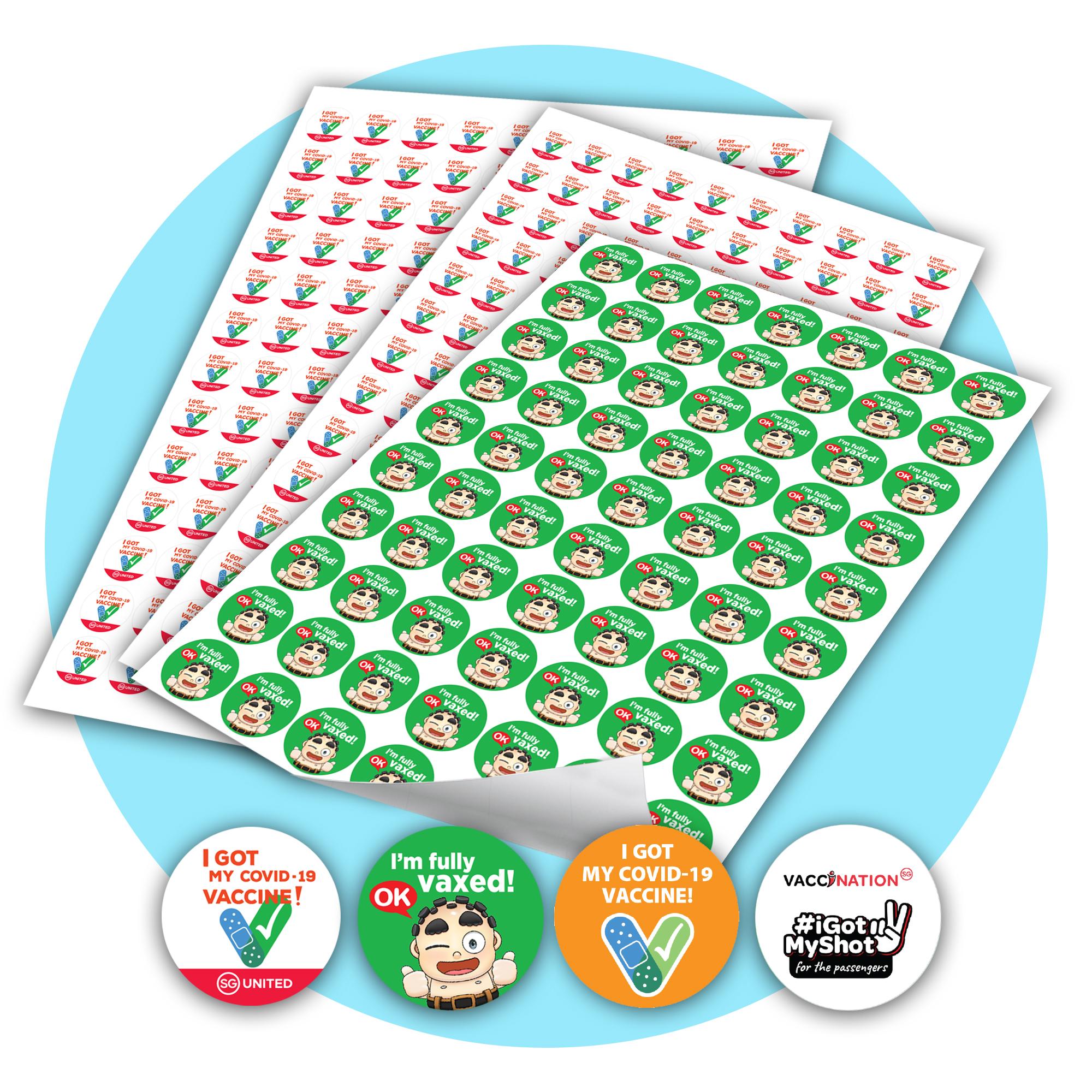 Vaccinated sticker (A3 size paper sticker)