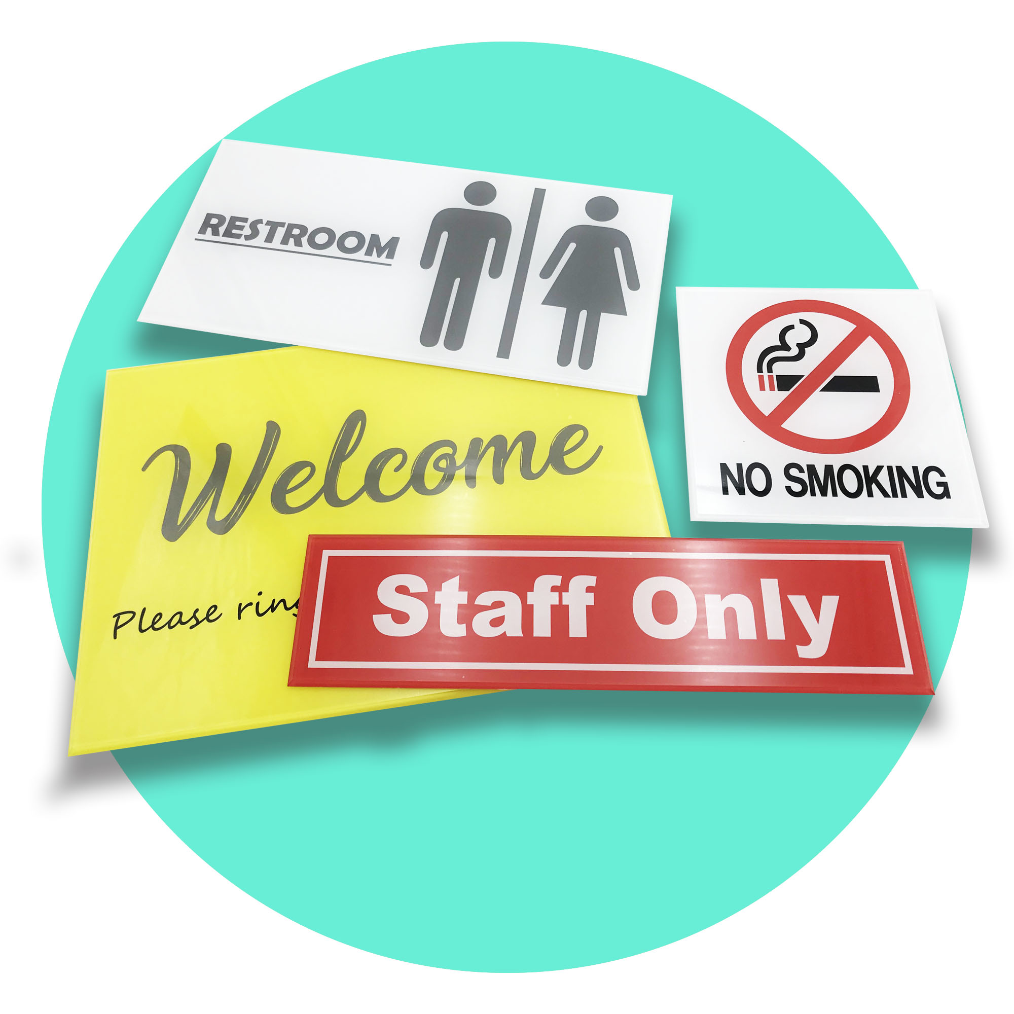 Acrylic Signage (Express) - Standard Size