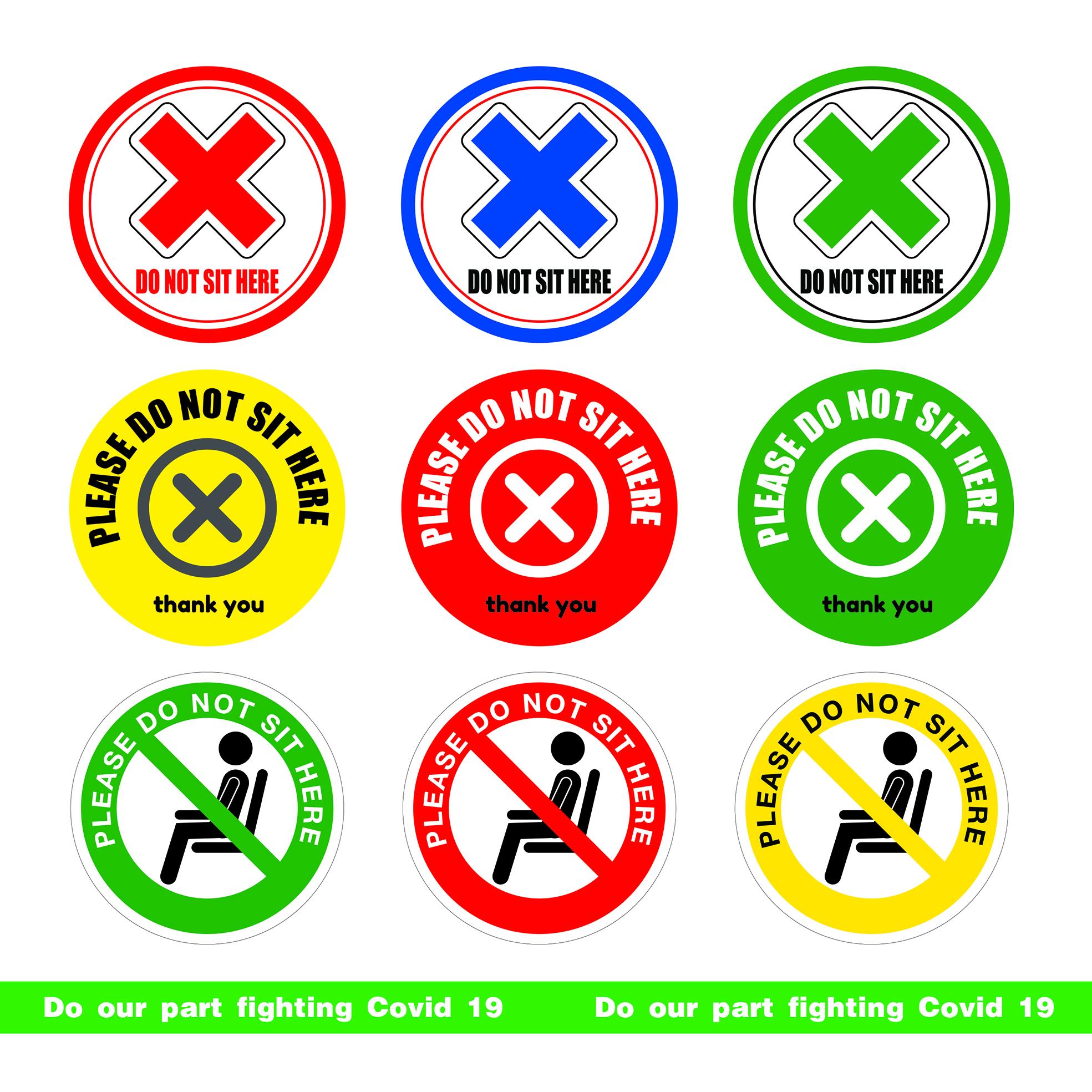 Do Not Sit Here ( 1set 5pcs )