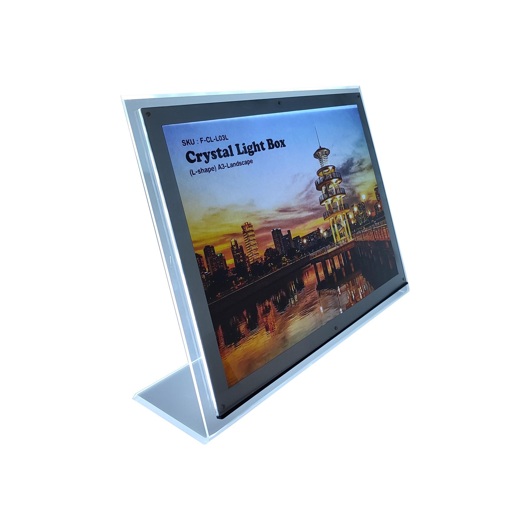 Light Box - Crystal L-Shape