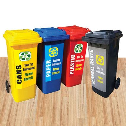 Waste Bin Recycle Sticker (Series A)
